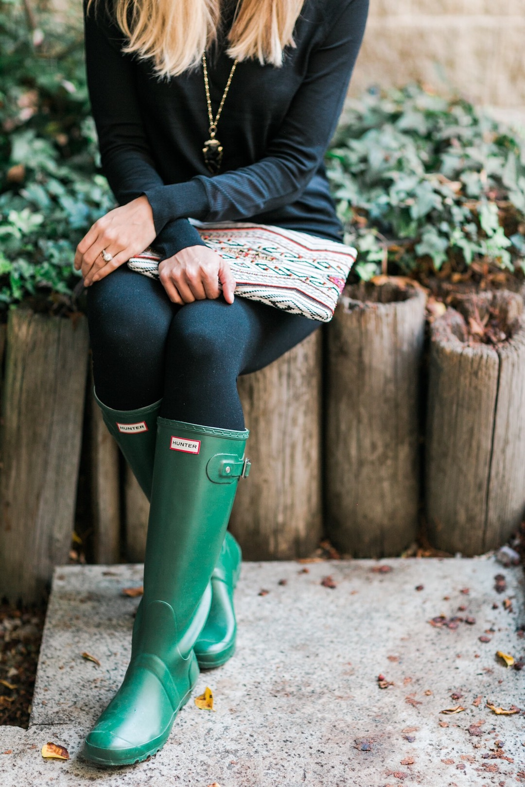 How I Style My Hunter Boots and A Giveaway!